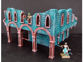 Gothic ruined house (28 mm/Heroic)