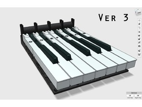Full size weighted keyboard section Ver3