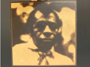 James Baldwin Lithopane