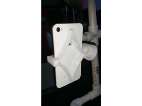 iPhone 4, 4S, 5, 5S, SE 3/4 inch PVC pipe holder
