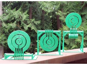 Print-in-place target spinners