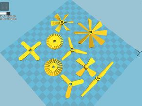 Customizable Lego Technic Propellers