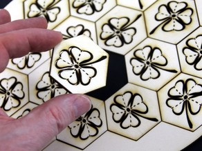 Wood Shamrock simple Puzzle, Lasercut, St. Patrick