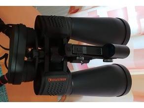 Astronomy red dot finder holder for bigger binoculars 15x70