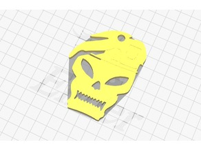 Call Of Duty skull Keychain