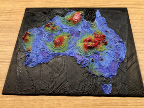 Geothermal map of Australia