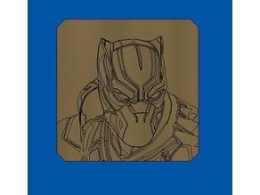 Black panther stamp