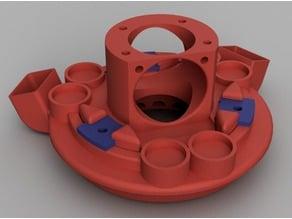 Magnetic Effector & Carriage & Double 50mm radial Filament Cooler for Delta Printer (E3D V6 mount)