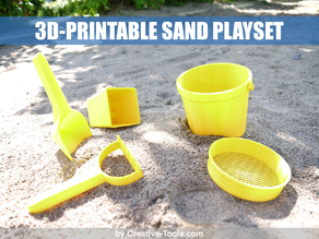 3D-printable sand play set