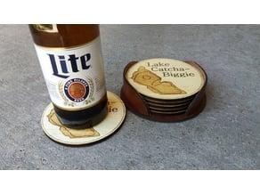Leather Coaster Holder
