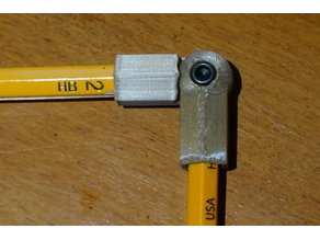 Pencil joint lockable M3 screw and nut