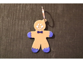 gingerbread man keychain