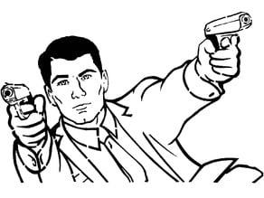 Sterling Archer stencil 2