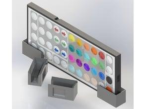 Generic Horizontal RGB LED Remote Wall Mount - No Screws