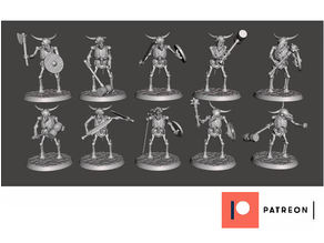 Skeleton Beastman Warriors - Melee Bull Brawlers