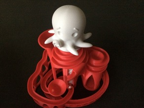 Cute Octopus Cyclone Marble Machine Motor