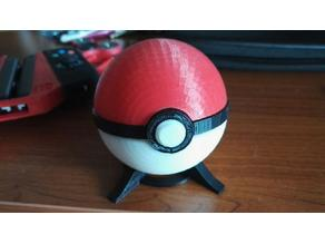 Pokeball, with magnetic clasp and release mechanism