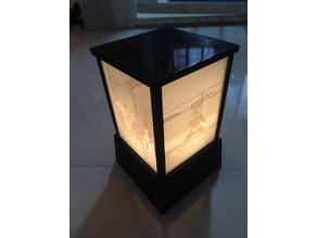 Light box for 4 lithophanes
