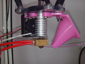Kossel Mini (K800) J-head retainer and fan duct