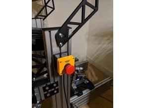 Emergency Stop bracket for 8020 T profiles