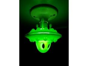 Flying Saucer LED lightbulb fixture