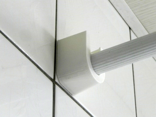 holder for shower curtain rod
