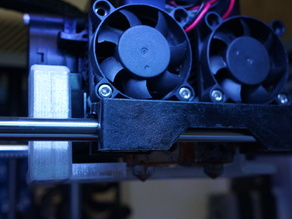 Flashforge dual extrusion air duct