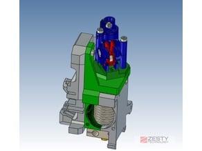 Nimble V1 adapter for the Prusa i3 MK2