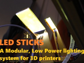 LED Sticks: A Modular, Low Power, LED Light System for 3D Printers #LightItUp