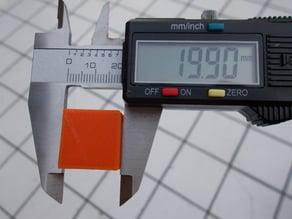 Calibration Cube 20x20x10 mm