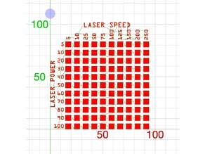 Power and Speed test for Laser using LaserWeb4