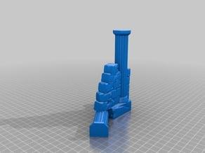Stone Pillar wall (3 piece)