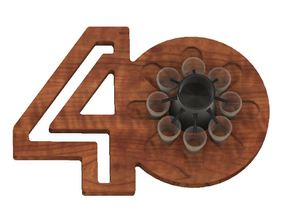 40th Birthday Present Shot Dispenser