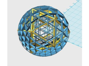 Icosahedron Inscribed Inside Complex Geodesic Sphere