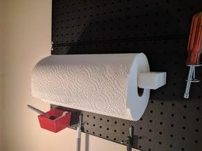 Pegboard Paper Towel Holder
