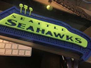 Seahawks Cribbage Board