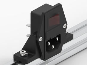 IEC power socket 2020 mount