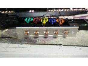 Guitar Hero fretboard keyboard switch bracket