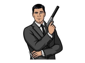 Sterling Archer-Drinking Figure