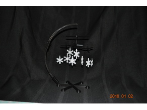 SnowFlake Mobile - Desktop or Free Hanging