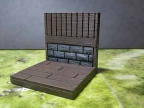 modular wood floor and wall