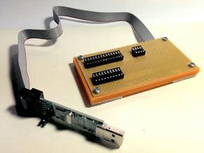Breakoutbox for an USBasp AVR programmer