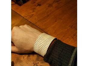 living hinge bracelet lasercut