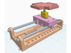 DIY cd rom stepper motor linear rail