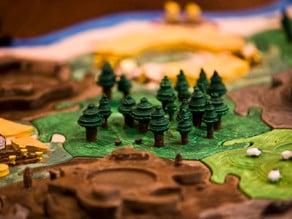 Catan Lumber Tiles - Warcraft Inspired