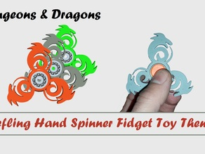 Tiefling Hand Spinner Fidget Toy Theme