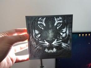 Tiger Lithopane