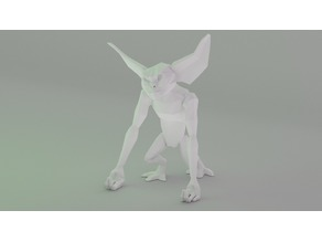 Low poly Gremlin Phone Holder