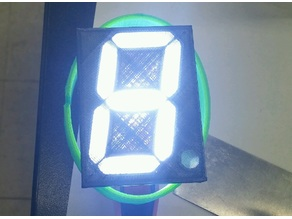 Seven Segment Light Box LED Display