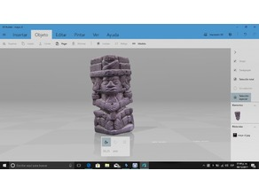 Mayan God statue 3D scanned
